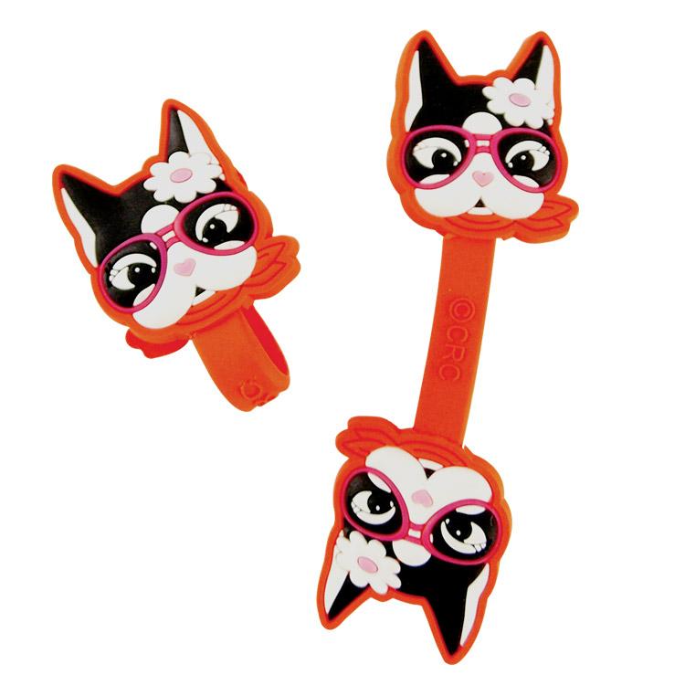 【Rebecca Bonbon】鬥牛犬造型捲線器/集線器-帥氣飛行眼鏡