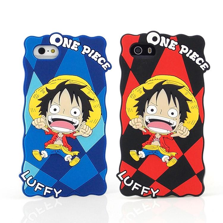 ONE PIECE 航海王 iPhone SE/i5/i5s 2D立體保護套-嗨嗨方格魯夫