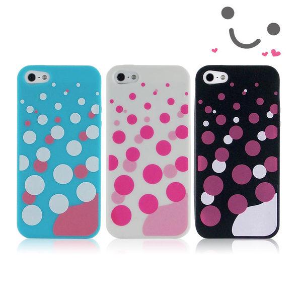 iPhone SE/i5/i5s  可愛繽紛彩色泡泡專用保護套-降價大優惠