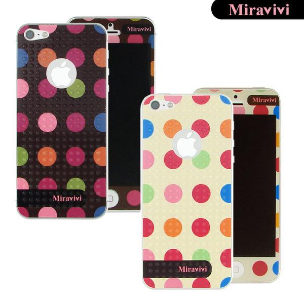 Miravivi iPhone SE/i5/i5s 繽紛巧克力豆豆時尚雙面彩繪保護貼-降價大優惠