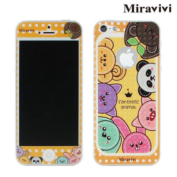 Miravivi iPhone SE/i5/i5s 動物狂想曲系列雙面彩繪保護貼-降價大優惠