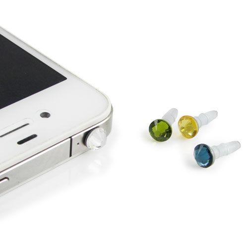 Miravivi swarovski 施華洛世奇晶鑽耳機防塵塞-藍/粉/黃/透明/綠