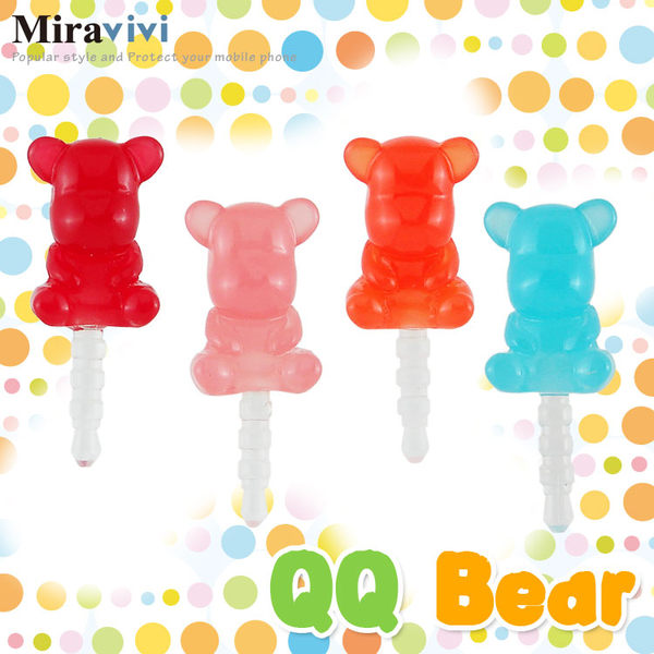 Miravivi 繽紛糖果系列耳機防塵塞-QQ Bear
