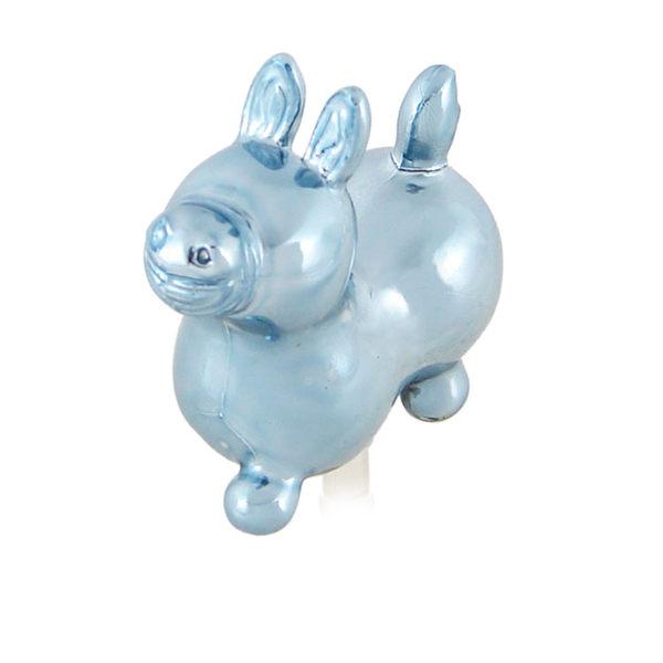 義大利Rody跳跳馬 立體金屬色電鍍系列耳機防塵塞-金屬藍