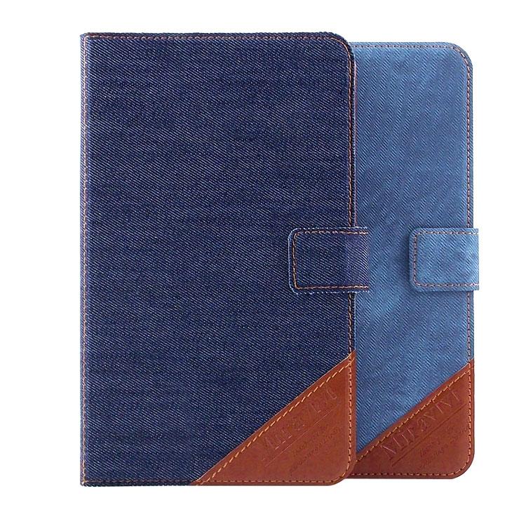Miravivi Samsung Galaxy Tab 4 7.0 (Tab4 7.0/T2397共用) 時尚個性牛仔側立筆記本皮套