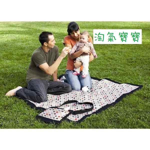 【淘氣寶寶】 SKIP HOP 背包、野餐墊、坐墊三合一外出攜帶防水 野餐墊/戶外遊戲墊/防水墊