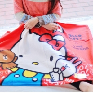 美麗大街【105121413】HELLO KITTY兒童造型毯子冷氣毯 保暖毯 午休毯