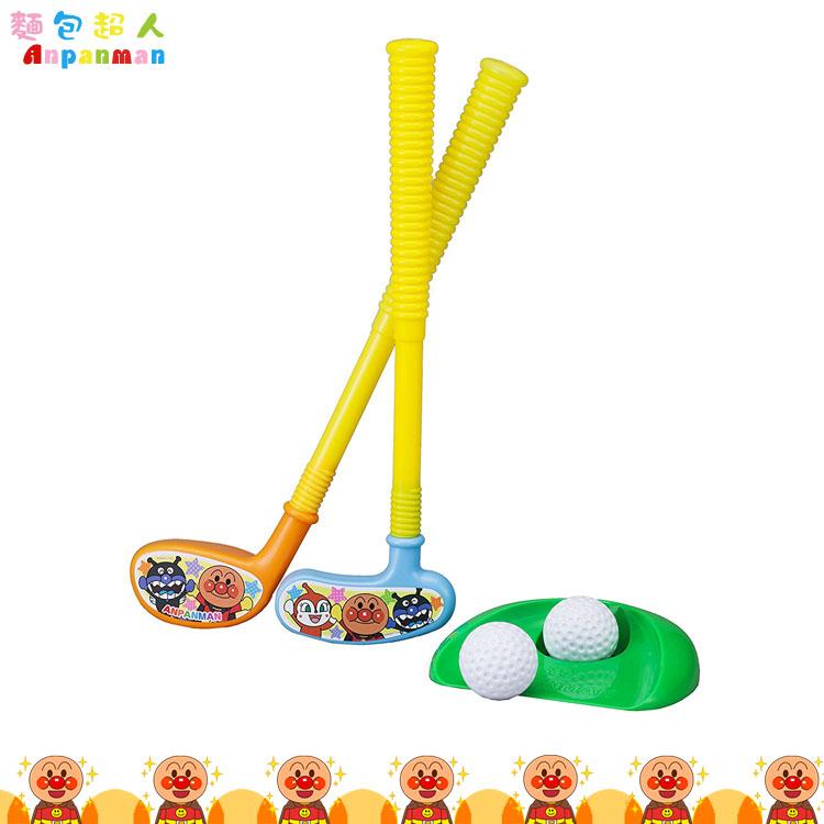 大田倉 日本進口正版 Anpanman 麵包超人 高爾夫玩具 推車遊戲組 球杆 球桿 打高爾夫 附拉桿車 313064