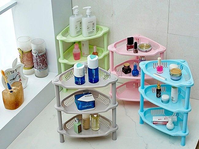 《愛鴨咖啡》三層置物架 浴室三角置物架 廚房三角置物架 收納架 寢室收納架 衛浴設備 廚房用品