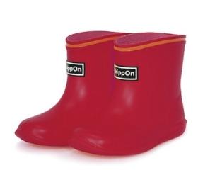 『日本代購品』紅色款 SKIPPON 亮彩糖果色兒童雨鞋 雨靴 13-17碼 日本製
