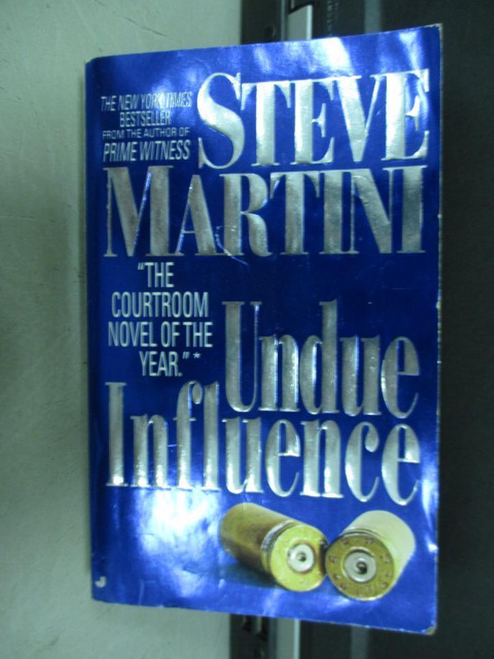 【書寶二手書T5/原文小說_ISH】Undue Influence_Steve Martini
