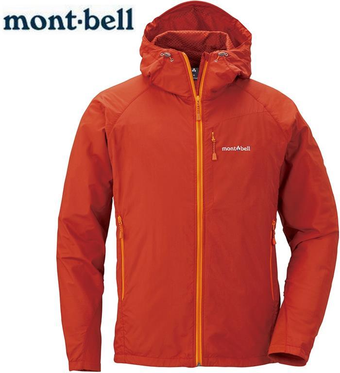 Mont-Bell 風衣外套/登山外套 防潑水保暖防風 Light Shell 男款 連帽款 1106561 PAPRI椒紅