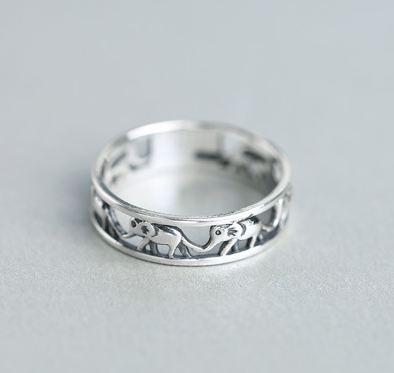 Tokyo Alice 925純銀復古大象戒指,戒指飾品首飾銀飾甜美(sr0000050)