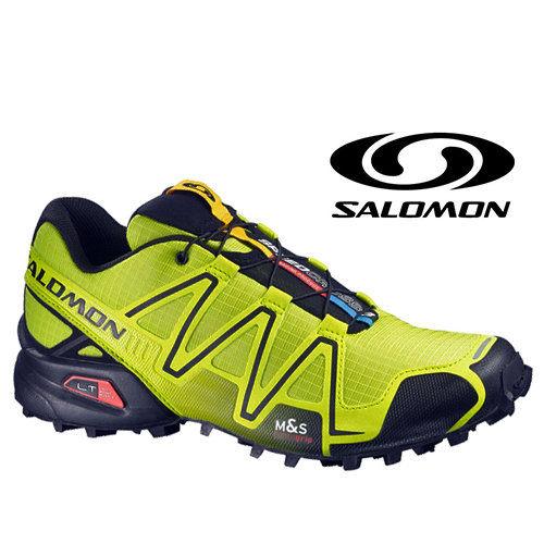 Salomon SPEEDCROSS 3 男輕量越野跑鞋 壁虎?/黑 366735
