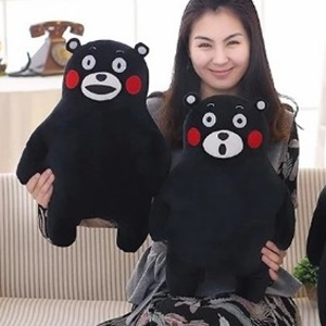 美麗大街【105122193】小款 熊本熊毛絨玩具日本黑熊公仔玩偶布娃娃抱枕兒童禮物(30公分)