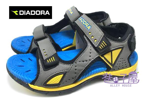 【巷子屋】義大利國寶鞋-DIADORA迪亞多納 大童雙層減震超耐磨排水運動涼鞋 [9656] 灰藍 超值價$398