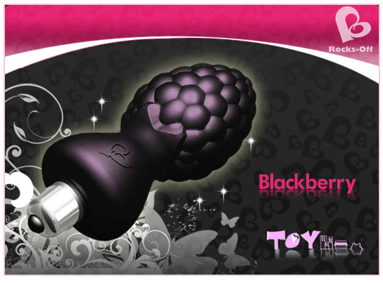 【紫星情趣用品】英國Rocks Off - Ass berries 藍莓造型震動按摩棒(KF00013)
