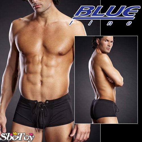 【紫星情趣用品】美國Blue Line-潮男綁帶平口褲-經典黑 L/XL BLM004-適合亞洲男性尺寸(8160136)