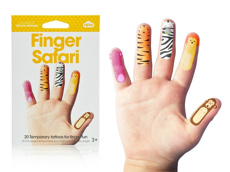 英国【npw】纹身贴纸组 - 手指动物