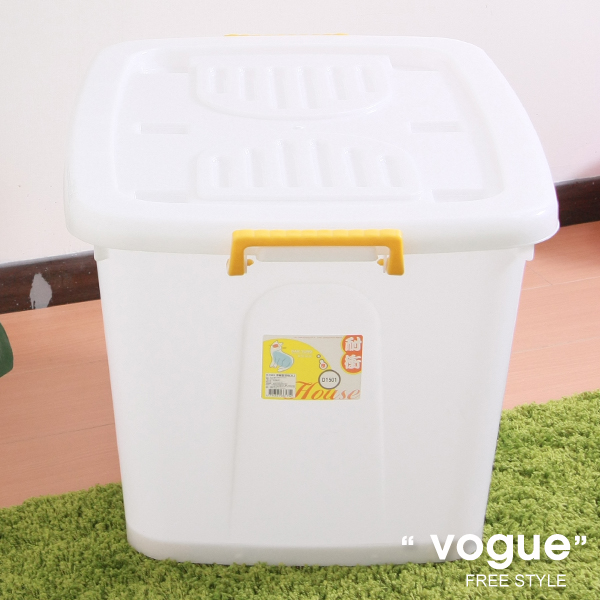 E&J【660016】Mr.box免運費,D1501滑輪整理箱XL130L(3入) 收納箱/收納袋/衣櫃/衣櫥