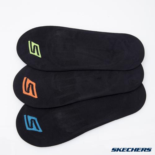 [陽光樂活]  SKECHERS 男款 時尚休閒系列  男運動船型襪 隱形襪 S101589-001 (一組三雙)