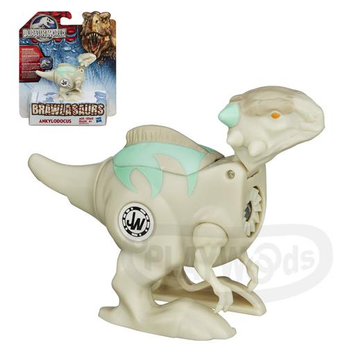 【Playwoods】[侏儸紀世界Jurassic World]戰鬥恐龍組-甲梁龍Ankylodocus(旋轉式發條/對戰/改造恐龍/孩之寶/Hasbro/侏羅紀公園/努布拉島/帝王暴龍/迅猛龍/雷龍/翼龍/滄龍)