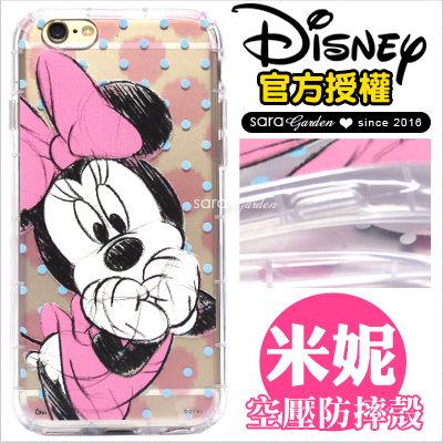 免運 官方授權 迪士尼 防摔殼 空壓殼 iPhone 6 6S Plus 三星 Note7 J7 2016 ASUS Zenfone 3 手機殼 米妮【D0901024】