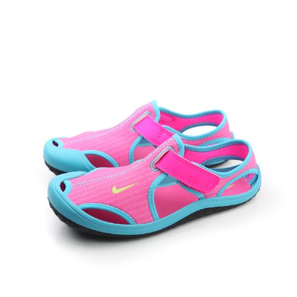 NIKE 涼鞋 童鞋 粉色 中童 no385