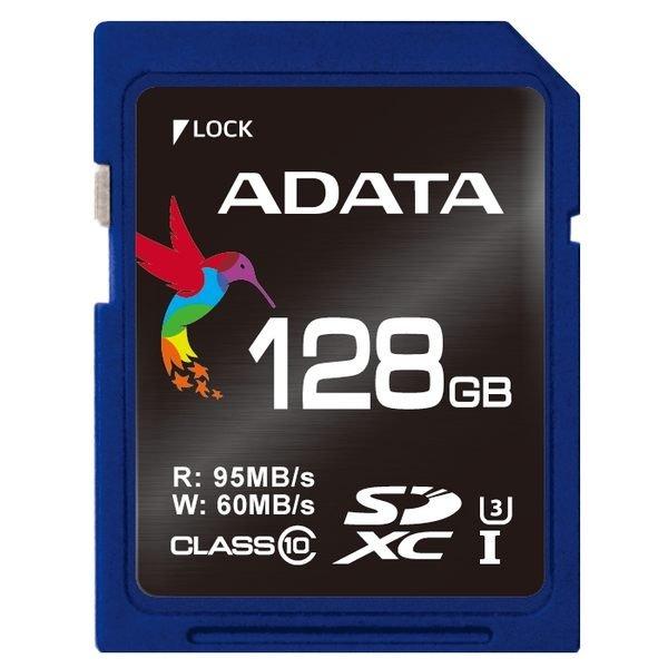 *╯新風尚潮流╭*威剛記憶卡 128G 128GB SDXC C10 U3 讀95寫60 ASDX128GUI3CL10-R