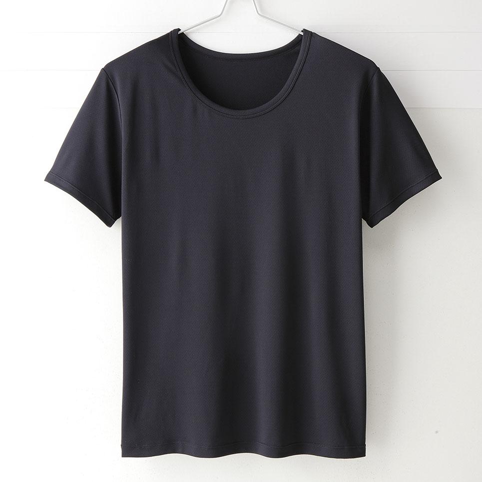 【MIGER密格內衣】型男超快乾吸排機能圓領短袖衫。透氣網眼(時尚黑)-台灣製-(編號:30181)
