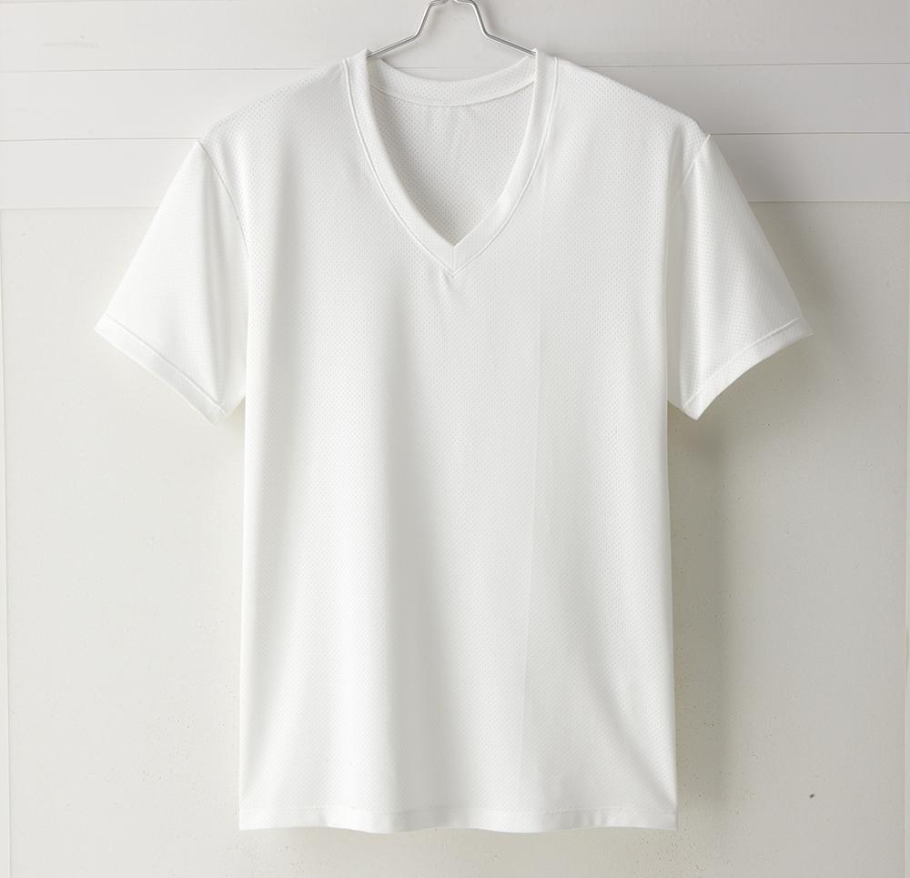 【MIGER密格內衣】型男超快乾吸排機能V領短袖衫。透氣網眼(魅力白)-台灣製-(編號:30192)