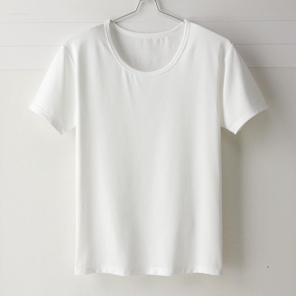 【MIGER密格內衣】型男超快乾吸排機能圓領短袖衫。透氣網眼(魅力白)-台灣製-(編號:30182)