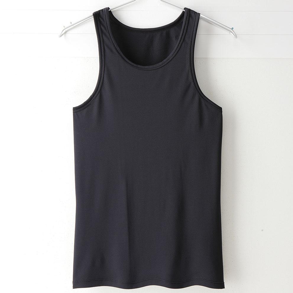 【MIGER密格內衣】型男超快乾吸排機能背心。透氣網眼(時尚黑)-台灣製-(編號:30171)