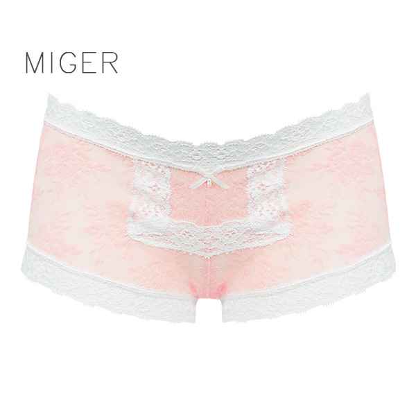 【MIGER密格內衣】細緻棉質蕾絲低腰平口內褲-台灣製-(編號:6950)