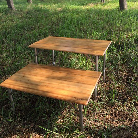 Truvii 四摺竹桌 折合桌 木桌 蛋捲桌 露營桌 吃飯桌 露營 休閒桌 小車