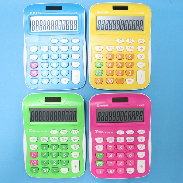 E-MORE MS-12E 國家考試專用計算機 中型12位數計算機(共四色)/一台入{促250}