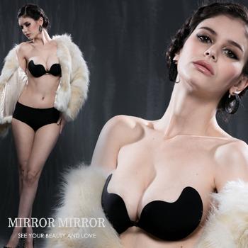 弧形側翼式隱形胸罩(黑)-睡衣,馬甲福利超低價)