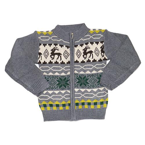【錢豪童裝童鞋】麋鹿保暖針織外套(85~115cm)