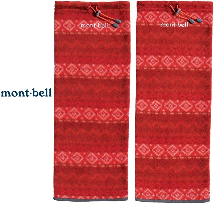 Mont-Bell 刷毛保暖腿套/登山腿套/花紋襪套/森系mori/民族風/yama穿搭1108766 #32 紅稜