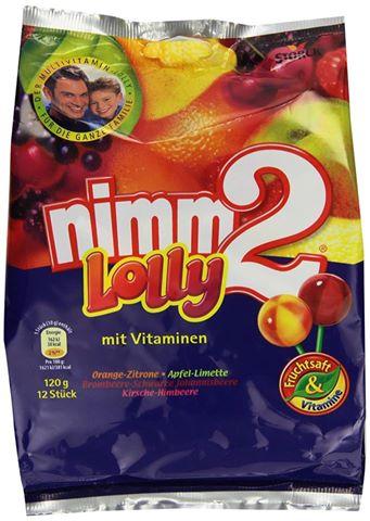 《德國空運》nimm2水果維他命棒棒糖 12支