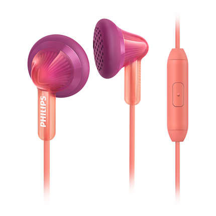 【迪特軍3C】PHILIPS 飛利浦 SHE3015PH 手機用耳塞式耳麥 桃紅色