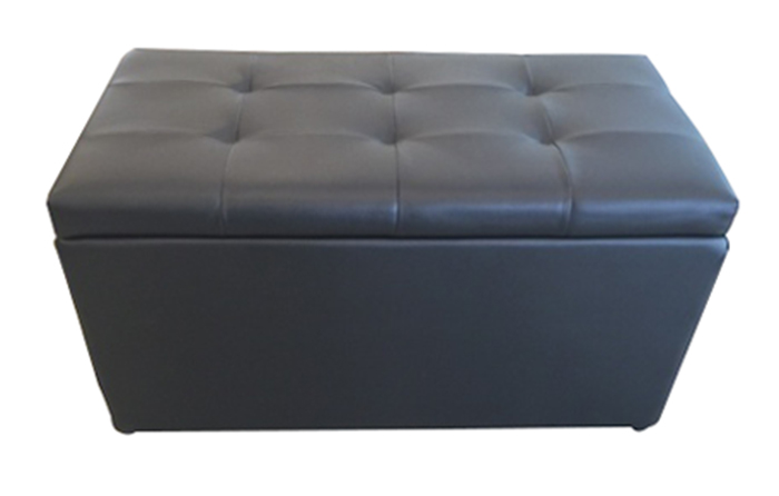 【尚品傢俱】Q-881-08 黑色3尺皮收納椅/候客/床前椅/床尾椅