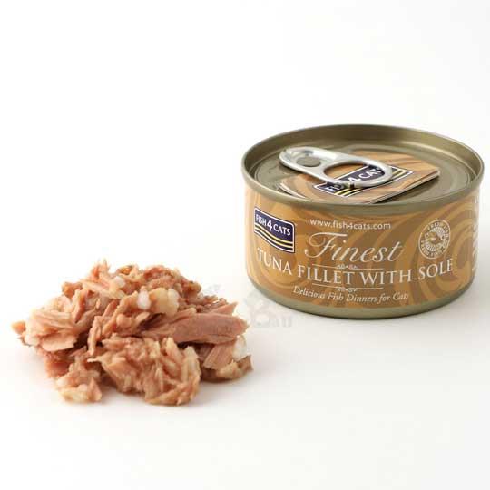 【海洋之星FISH4CATS】鮪魚比目魚貓罐 (70g/罐)