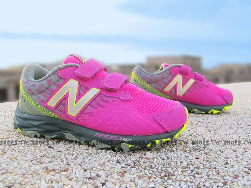 Shoestw【KE690PYY】NEW BALANCE 慢跑鞋 中童鞋 桃紅 灰迷彩底 有大尺寸喔