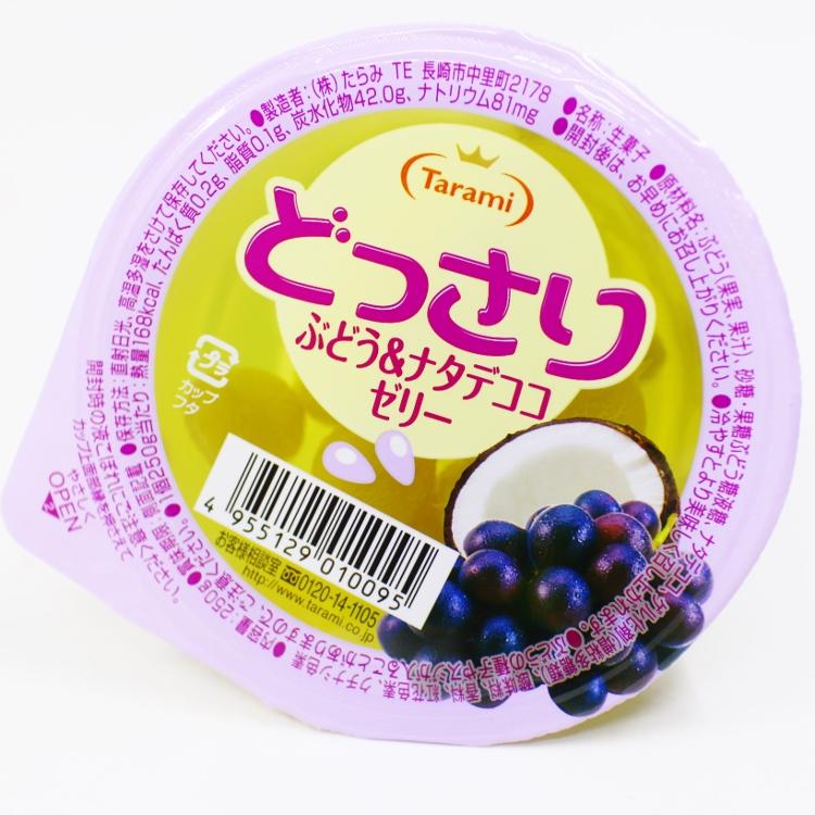 【橘町五丁目】日本TARAMI 果凍杯-葡萄椰果 250g