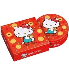 【限時2日★9/19-920滿$888現折$150】【橘町五丁目】限量促銷! 北日本BOURBON Hello Kitty 餅乾禮盒-附贈提袋!