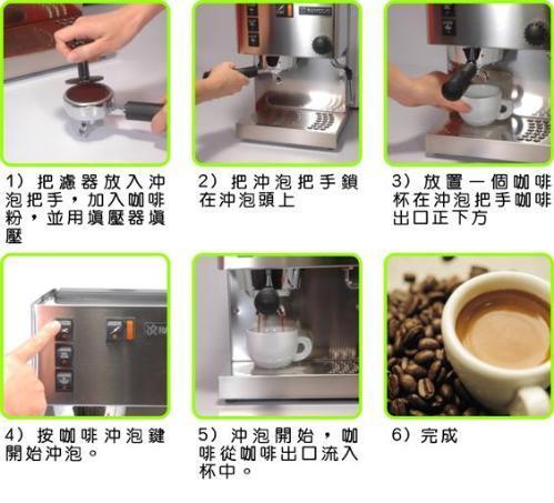 煮咖啡流程 手绘图片