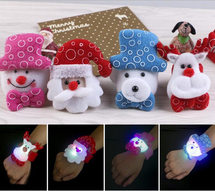 tangyizi輕鬆購【DS141】聖誕節超萌聖誕造型發光拍拍手環聖誕節禮物 啪啪圈耶誕老人雪人派对用品