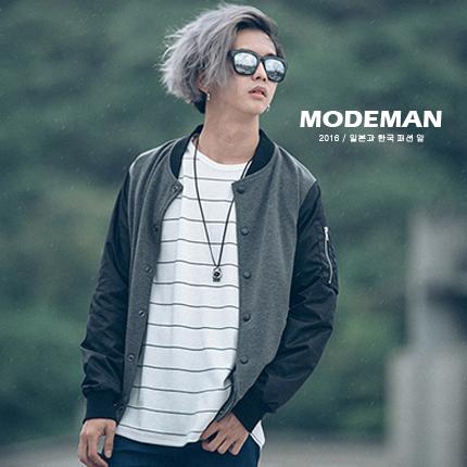 【MODE MAN】MA-1口袋造型拼袖空軍飛行外套