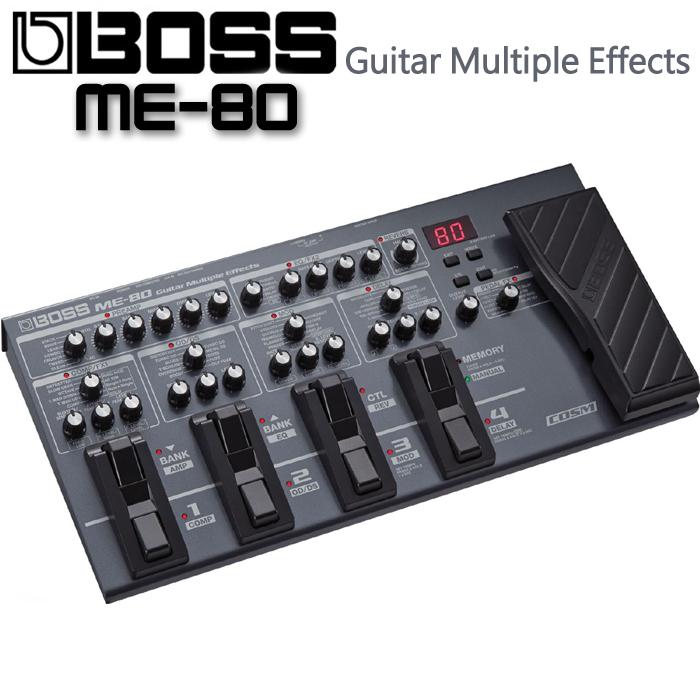 【非凡樂器】『全新上市』 BOSS ME-80 ME80 吉他多重效果器 綜合效果器(送導線.變壓器)
